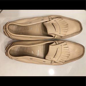 Prada loafers cream size 10